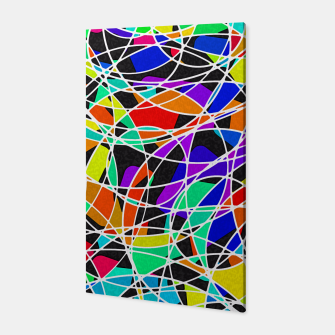 Abstract Art Circle Stained multicolored Canvas Bild der Miniatur