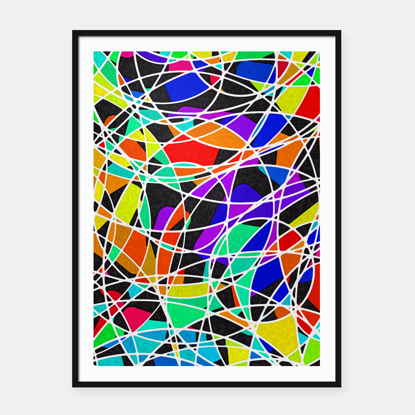 Foto Abstract Art Circle Stained multicolored Plakat mit rahmen - Live Heroes
