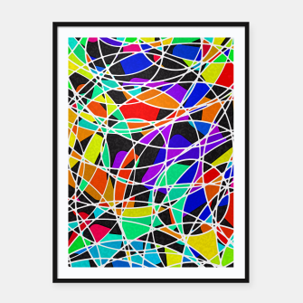 Miniatur Abstract Art Circle Stained multicolored Plakat mit rahmen, Live Heroes