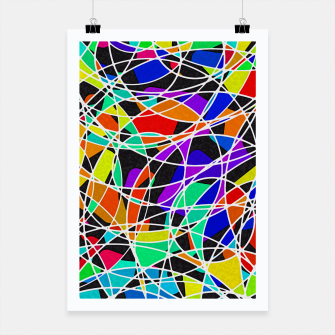 Miniatur Abstract Art Circle Stained multicolored Plakat, Live Heroes