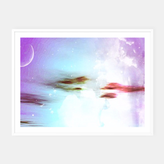 Thumbnail image of Pastel moon  Framed poster, Live Heroes