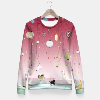 Thumbnail image of Cat's Paradise Fitted Waist Sweater, Live Heroes