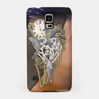 Thumbnail image of Dolphin time sculpture on leather Samsung Case, Live Heroes