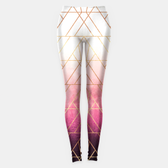 Thumbnail image of Pink Ombre Triangles Leggings, Live Heroes