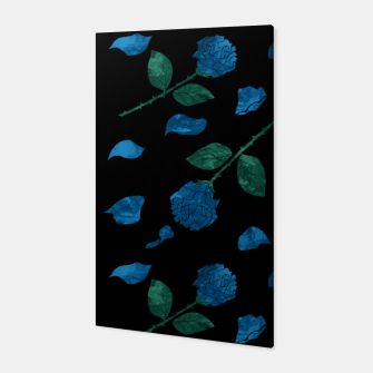 Miniatur Blue roses on back background Canvas, Live Heroes