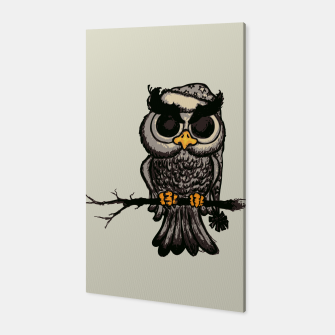 Miniatur Angry Owl Canvas, Live Heroes