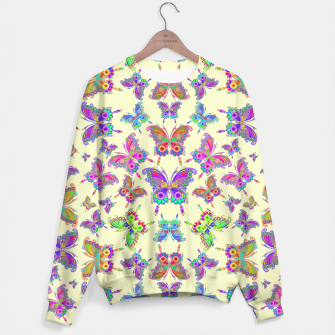 Thumbnail image of Butterfly Colorful Tattoo Style Pattern Sweater, Live Heroes