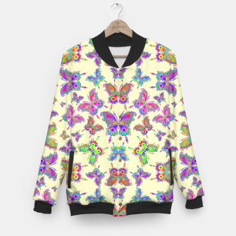 Thumbnail image of Butterfly Colorful Tattoo Style Pattern Baseball Jacket, Live Heroes