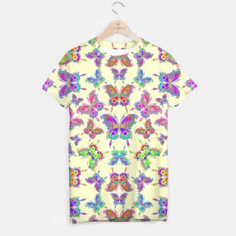 Thumbnail image of Butterfly Colorful Tattoo Style Pattern T-shirt, Live Heroes