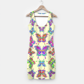 Thumbnail image of Butterfly Colorful Tattoo Style Pattern Simple Dress, Live Heroes