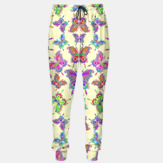 Thumbnail image of Butterfly Colorful Tattoo Style Pattern Sweatpants, Live Heroes