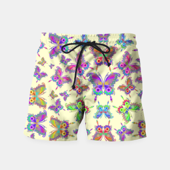 Thumbnail image of Butterfly Colorful Tattoo Style Pattern Swim Shorts, Live Heroes