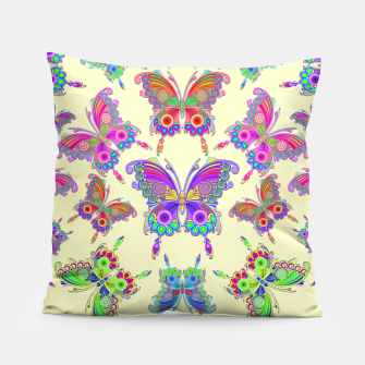 Thumbnail image of Butterfly Colorful Tattoo Style Pattern Pillow, Live Heroes