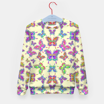 Thumbnail image of Butterfly Colorful Tattoo Style Pattern Kid's Sweater, Live Heroes