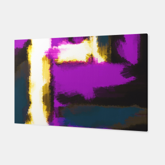 Miniatur purple blue white and black abstract painting Canvas, Live Heroes