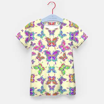 Thumbnail image of Butterfly Colorful Tattoo Style Pattern Kid's T-shirt, Live Heroes