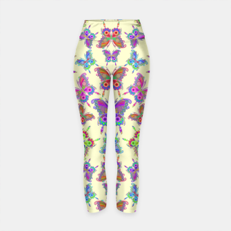 Thumbnail image of Butterfly Colorful Tattoo Style Pattern Yoga Pants, Live Heroes