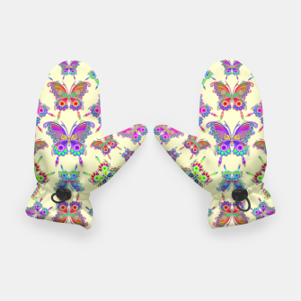 Thumbnail image of Butterfly Colorful Tattoo Style Pattern Gloves, Live Heroes