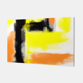Miniatur orange yellow black abstract painting background Canvas, Live Heroes