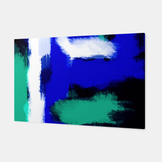 Miniatur blue green and white line pattern background Canvas, Live Heroes