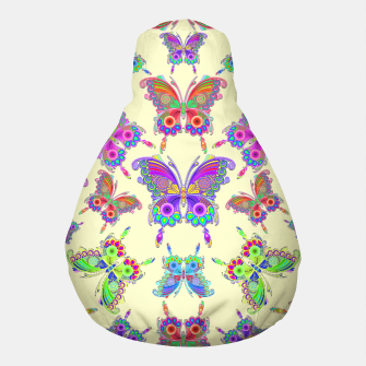 Thumbnail image of Butterfly Colorful Tattoo Style Pattern Pouf, Live Heroes