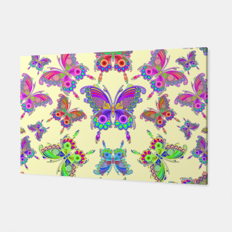 Thumbnail image of Butterfly Colorful Tattoo Style Pattern Canvas, Live Heroes