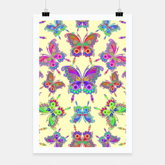 Thumbnail image of Butterfly Colorful Tattoo Style Pattern Poster, Live Heroes