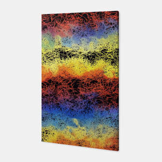 Miniatur psychedelic graffiti geometric drawing abstract in red yellow blue and black Canvas, Live Heroes
