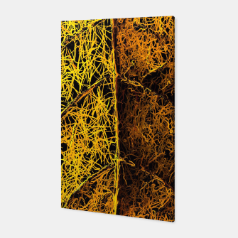 Miniatur graffiti drawing and painting rotten yellow leaf texture abstract  Canvas, Live Heroes