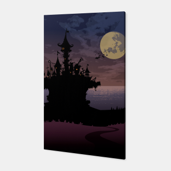 Miniatur Castle in the night Canvas, Live Heroes