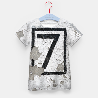 Number 7 Kid's T-shirt obraz miniatury