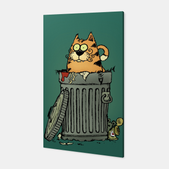 Miniatur Stray Cat Canvas, Live Heroes