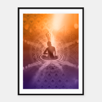 Thumbnail image of Yoga Framed Poster, Live Heroes