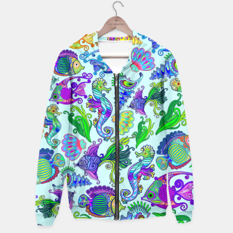 Thumbnail image of Marine Life Exotic Fishes & SeaHorses Hoodie, Live Heroes