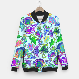 Thumbnail image of Marine Life Exotic Fishes & SeaHorses Baseball Jacket, Live Heroes
