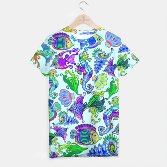 Marine Life Exotic Fishes & SeaHorses T-shirt thumbnail image