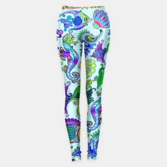 Thumbnail image of Marine Life Exotic Fishes & SeaHorses Leggings, Live Heroes