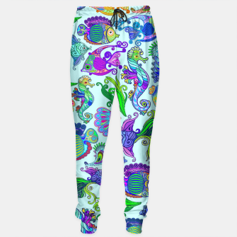 Marine Life Exotic Fishes & SeaHorses Sweatpants thumbnail image