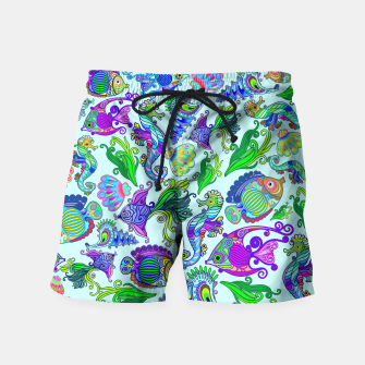 Marine Life Exotic Fishes & SeaHorses Swim Shorts thumbnail image