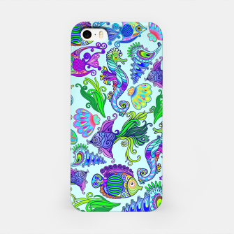 Marine Life Exotic Fishes & SeaHorses iPhone Case thumbnail image