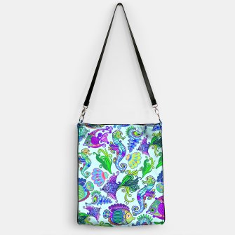 Thumbnail image of Marine Life Exotic Fishes & SeaHorses Handbag, Live Heroes