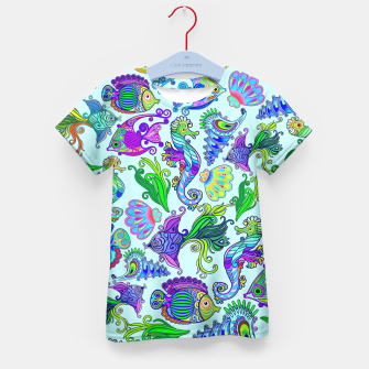 Marine Life Exotic Fishes & SeaHorses Kid's T-shirt thumbnail image