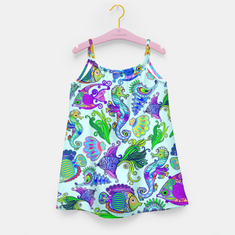 Thumbnail image of Marine Life Exotic Fishes & SeaHorses Girl's Dress, Live Heroes
