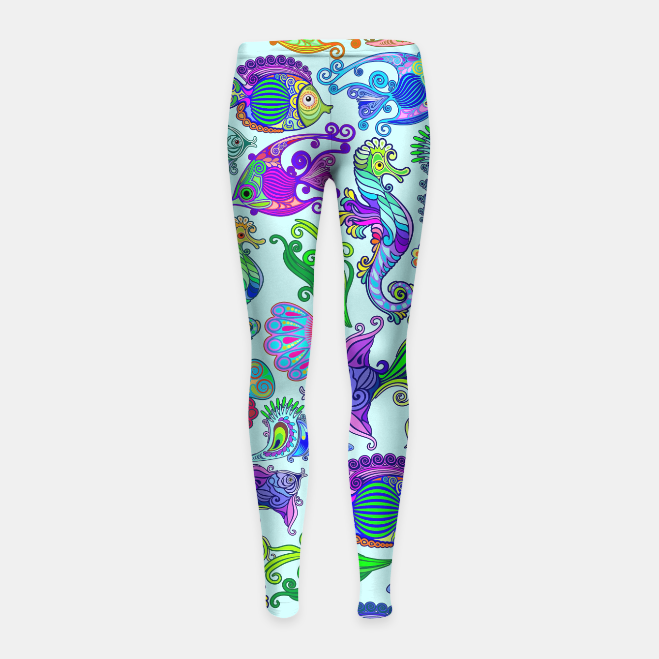 Image of Marine Life Exotic Fishes & SeaHorses Girl's Leggings - Live Heroes
