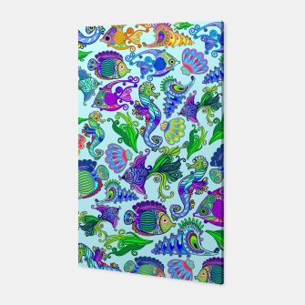 Marine Life Exotic Fishes & SeaHorses Canvas thumbnail image