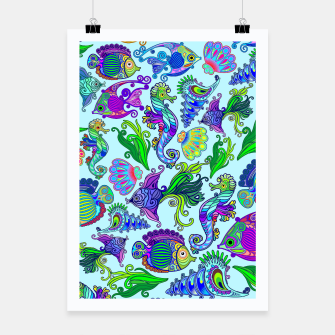 Thumbnail image of Marine Life Exotic Fishes & SeaHorses Poster, Live Heroes