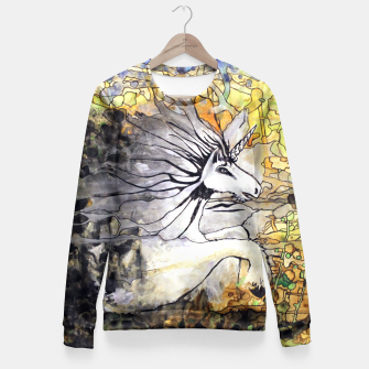 Thumbnail image of Unicorn Breakthrough  Fitted Waist Sweater, Live Heroes