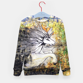 Thumbnail image of Unicorn Breakthrough  Kid's Sweater, Live Heroes