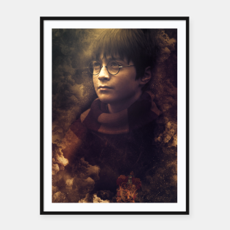 Thumbnail image of Fire Magician Framed poster, Live Heroes