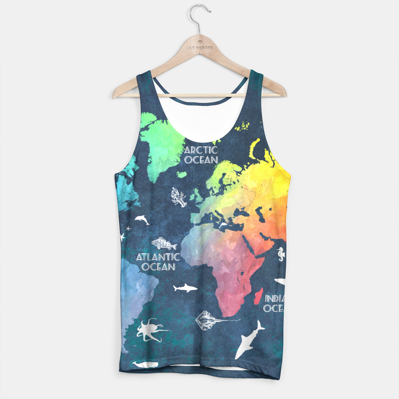 World map text art tank top live heroes image of world map text art tank top live heroes gumiabroncs Images
